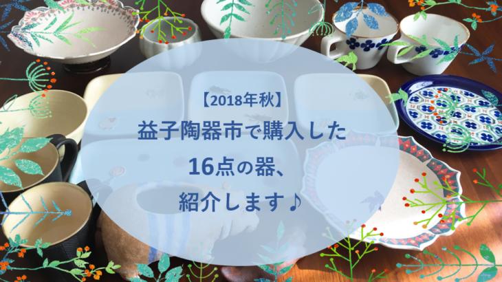 【2018年秋】益子陶器市で購入した16点の器、紹介します♪